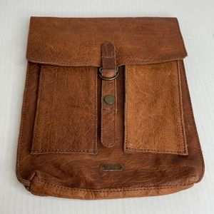 Free people genuine leather iPad case 10X8.5 EUC